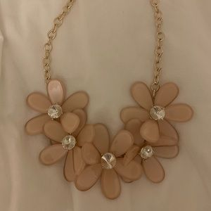 Dusty Pink Flower Necklace